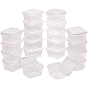 Other - 40 mini storage containers with lids white plastic